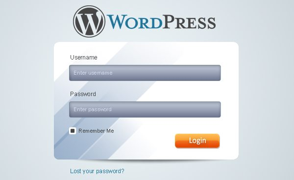 clean-wordpress-login